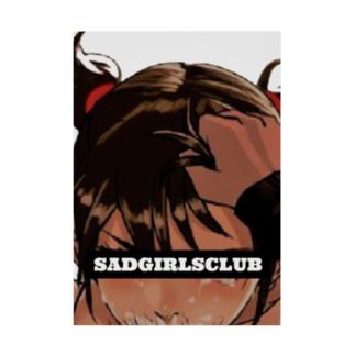 SADGIRLSCLUB 女の子 Stickable poster