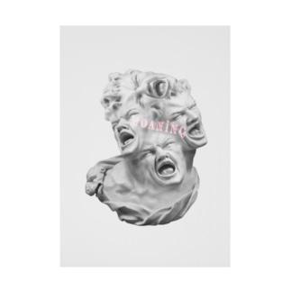 カズシフジイのうめく石像 Stickable poster