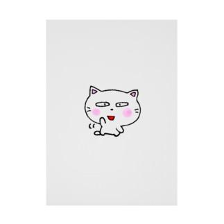 白猫のミャウ 元気ver Stickable poster