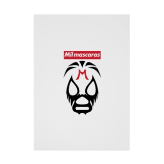 MIL MASCARAS-ミル・マスカラス-赤ボックスロゴ Stickable poster