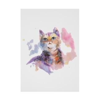猫さん Stickable poster