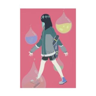 Spring walker Stickable poster