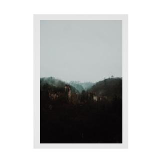 秋保の山 Stickable poster