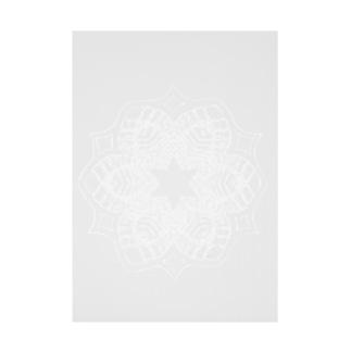レースの幾何学模様な花 Stickable Poster