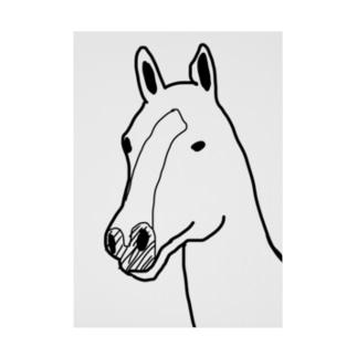 馬 Stickable poster