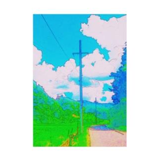 田舎道 Stickable poster
