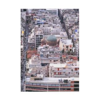 ギリシャ:アテネ旧市街の風景写真 Greece: view of old Athens Stickable poster