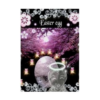 👑2021.4/4はEasterイースター (復活祭)です Stickable poster