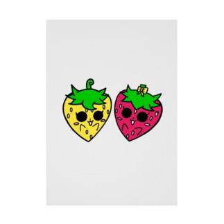 いちごのチーゴくん くるんちゃん&チコちゃん Stickable poster