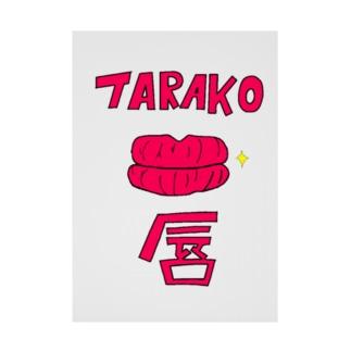 TARAKO唇 Stickable poster