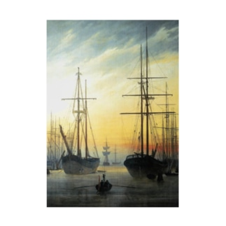 カスパー・ダーヴィト・フリードリヒ《港の眺め》 Stickable poster