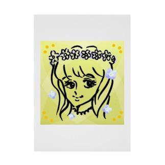 花冠に小さな花。 Stickable poster