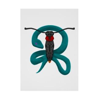 蛍と蛇 Stickable poster