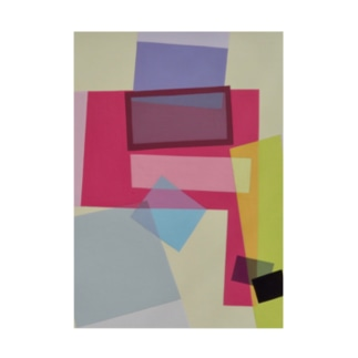 ララ Abstract letter series Stickable poster