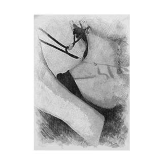 サンバイザーの紐まで巻き込む女 Stickable poster