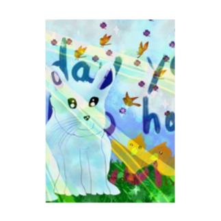 うさぎと小鳥 Harmony Stickable poster