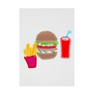 ハンバーガーセット Stickable poster