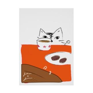 猫とブラウニー Stickable poster