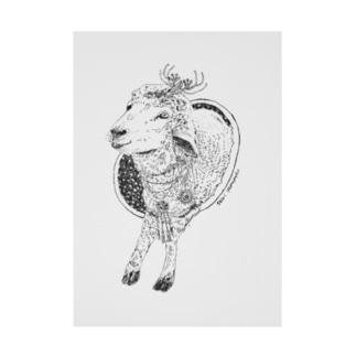 羊せかいを越えて Stickable poster