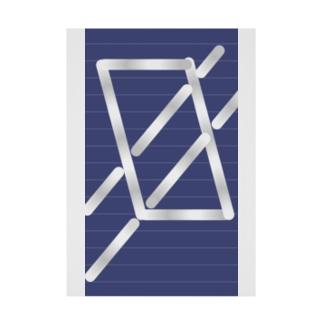 四角パターン3 Stickable poster