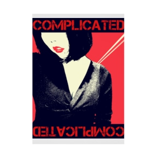 COMPLICATED Stickable poster