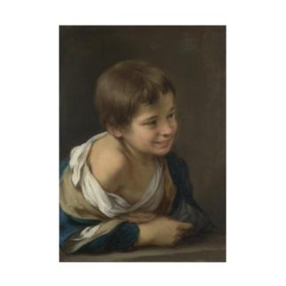 ムリーリョ(スペイン、1617-1682) 《窓枠に身を乗り出した農民の少年》 Stickable poster