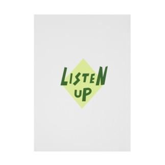 LISTEN UP Stickable poster