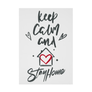 Keep Calm and Stay Home Stickable poster