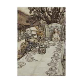 アーサー・ラッカム《不思議の国のアリス》 Stickable poster