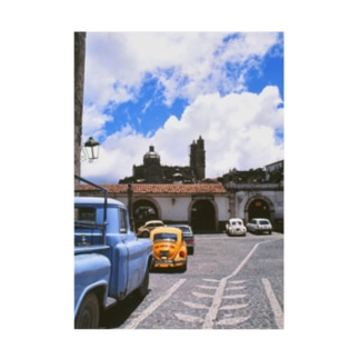 メキシコ:タスコの風景写真 Mexico: view of Taxco Stickable poster