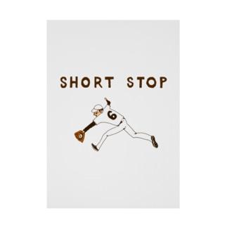 野球デザイン「ショート」 Stickable poster