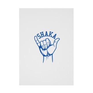 SHAKA-シャカ-アメカジブルー色 Stickable poster