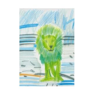 ライオンと背景 Stickable poster