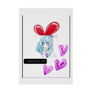 うさぎ♥️女子 Stickable poster