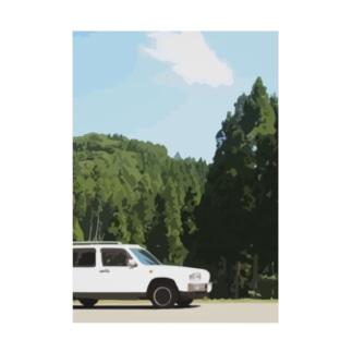 森とラシーン(色々カラー) Stickable Poster