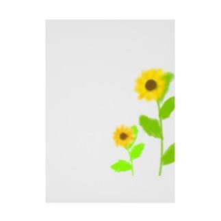 風に揺れる向日葵 Stickable Poster