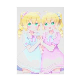 双子ちゃん Stickable poster
