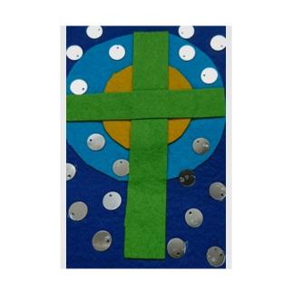 十字架 Stickable tarpaulin