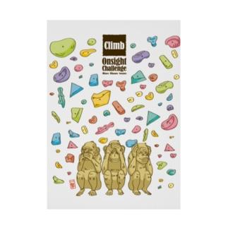 三猿〜Onsight Climbing〜 Stickable poster
