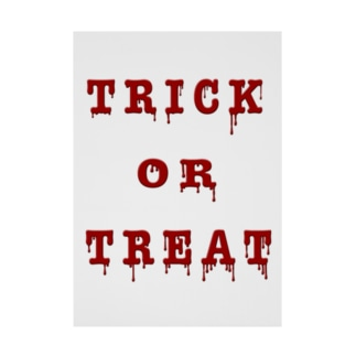 Bloody Trick or Treat Stickable poster