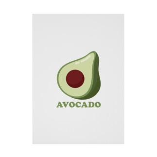 Avocado-アボカド- Stickable Poster