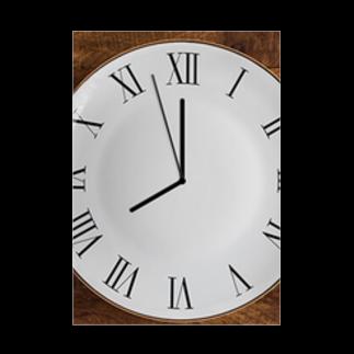 Teatime ティータイムの時間 時計 インテリア Stickable tarpaulin