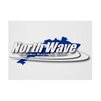 North Waveバナー Stickable tarpaulin