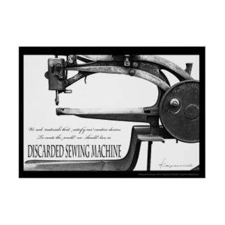 A2ポスター「棄てられたミシン ~ BW」 Stickable tarpaulin