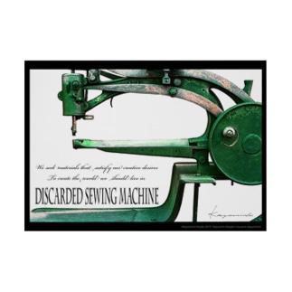 A2ポスター「棄てられたミシン ~ Green」 Stickable tarpaulin