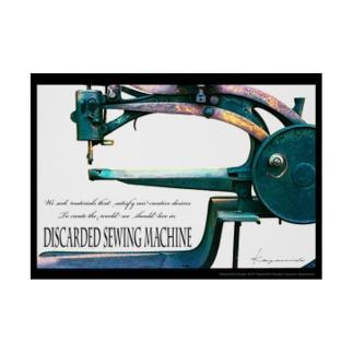 A2ポスター「棄てられたミシン ~ Multi Color」 Stickable tarpaulin