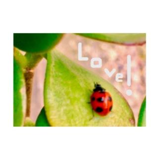Happyてんとう虫(Love) Stickable poster