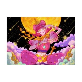 Galaxy girl Stickable poster