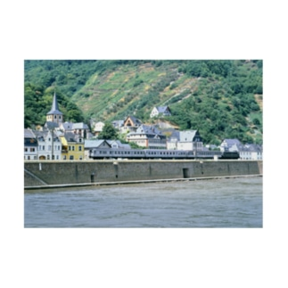 ドイツ:ライン河畔の風景写真 Germany: Riverside view of rhein Stickable poster