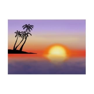 ハワイの夕暮れ Stickable poster
